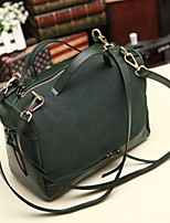 Women Other Leather Type Sling Bag Shoulder Bag-Green / Black