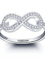 2016 Personalized Promise 925 Sterling Silver Infinity CZ Stone Ring For Women