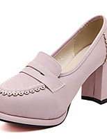 Women's Shoes Leatherette Chunky Heel Heels Heels Outdoor / Casual Pink / Almond