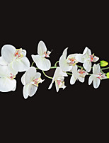 Nine Heads Silk White Phalaenopsis Artificial Flowers 1pc/set