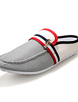 Men's Shoes For Driving Summer Leather Shoes Breathable Slipper Casual Beach Shoes British Style Dress Men Shoes