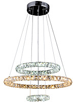 0.5 Moderno / Contemporáneo Cristal / LED Cromo Metal Lámparas ColgantesSala de estar / Dormitorio / Comedor / Cocina / Habitación de