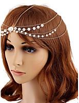 Chaîne pour Cheveux Casque Mariage / Occasion spéciale Alliage / Imitation de perle Femme / Jeune bouquetière Mariage / Occasion spéciale