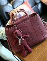 Women PU Sling Bag Shoulder Bag-Gray / Black / Burgundy