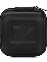 eva clásico negro de auricular auriculares 1pc estuche duro bolso de la bolsa de almacenamiento para el auricular 8 * 8 * 4cm
