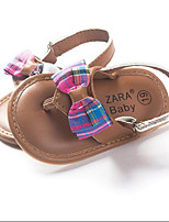 Baby Shoes Dress / Casual PU Flats / Flip-Flops Brown