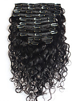 8A 100% Remy Natural Clip In Human Hair Extensions Brazilian Virgin Hair Clip In Extension Water Wave