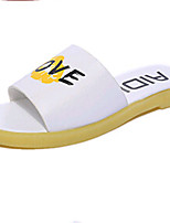 Women's Shoes PU Flat Heel Slippers Sandals / Slippers Outdoor / Dress / Casual Blue / Yellow / Pink