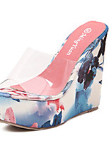 Women's Sandals Summer Sandals PVC Casual Wedge Heel Others Blue / Orange Others