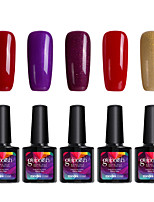 Modelones 5Pcs Gelpolish Soak Off Gel Nail Polish Long Lasting UV Nail Varnish Glue C102