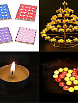 50pcs/Set Smokeless Cylindrical Night Candle Home Decorative Art Candle Color Romantic Wedding
