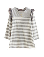 Girl's Dress,Cotton Winter Gray