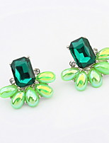 Irregular Ear Studs Green White  Blue Alloy Earrings Fashion Women Wonderful Jewelry