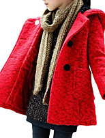 Girl's Jacket & Coat,Wool Spring / Fall Red / Yellow