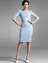 Baoyan® Women's Bateau 1/2 Length Sleeve Knee-length Dress-160021