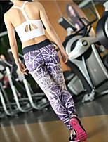 Pantalones de yoga Prendas de abajo Transpirable / Secado rápido / Capilaridad / Compresión Cintura Media Alta elasticidad Ropa deportiva