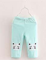 2016 New hello kitty Cat Prints Leggings Children Girl Lovely Summer Shorts Velvet Cropped Pants