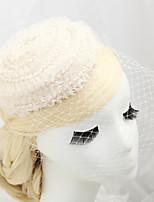 Femme / Jeune bouquetière Tissu / Filet Casque-Mariage / Occasion spéciale Voile de cage à oiseaux 1 Pièce