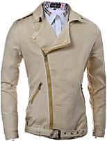 Men's Fashion Personality Side Zipper Casual Slim Fit Denim Jacket