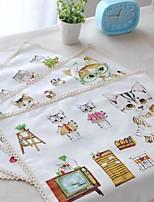 4pcs napperons pack de bande dessinée chat motif de toile de coton de mode lavable 11.8