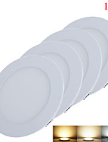 18W Lampes Panneau 90pcs SMD 2835 1650-1700lm lm Blanc Chaud / Blanc Froid / Blanc Naturel Décorative DC 24 V 4 pièces