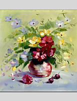 peintures à l'huile de matériel de toile de style de fleurs avec cadre tendu prêt à accrocher la taille 70 * 70cm