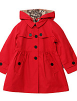 Girl's Brown / Red Jacket & Coat Cotton Winter / Fall