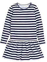 Girl's Dress,Cotton Spring / Fall Blue