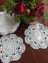 Set of 24 Pcs 20cm Round Handmade Crochet Table Doilies