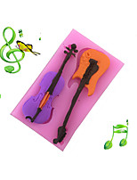 Guitar Musical Instrument Style Candy Fondant Cake Molds  For The Kitchen Baking Molds