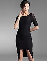 Baoyan® Women's Round Neck Short Sleeve Knee-length Dress-160011