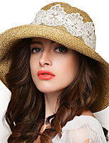 Women Straw Straw Hat,Vintage / Party / Work / Casual Spring / Summer / Fall / All Seasons