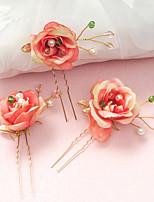 Capacete Alfinete de Cabelo Casamento / Ocasião Especial Crostal / Liga / Imitação de Pérola / Resina Mulheres / Menina das Flores