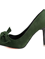 Women's Shoes Fleece Stiletto Heel Heels Heels Casual Black / Green / Pink / Red / Gray