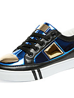 Men's Board Shoes Casual/Travel/Outdoor Fashion Sneakers Canvas Leather Shoes Gold/Sliver/Blue