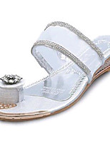 Women's Shoes PU Low Heel Toe Ring Sandals Outdoor / Dress / Casual Pink / Purple / White