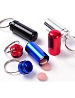 porte-boîte petit récipient en métal aluminium pillule imperméable médecine trousseau emballage bouteille