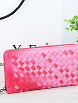 ZX  Zipper Weave Multifunction  Mobile Phone Bag Checkbook Wallet Coin Purse Card & ID Holder