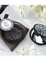 Black Damask Ladies Compact Mirror Bachelorette Party Favors, Ladies Night Out Essentials