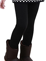 Solid Color Thermal Fashion Girls Leggings