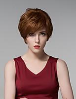 corto y rizado-top atado pelucas de cabello europeo sin tapa cabello Remy mano mullidas