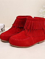 Girls' Shoes Outdoor Fashion Boots Leatherette Boots Black / Brown / Red