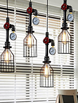 American Country Wrought Iron Chandelier Creative Personality Retro Bar Restaurant Chandelier Industrial Pipes