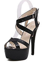 Women's Sandals Summer Sandals PU Casual Stiletto Heel Others Black / Silver Others