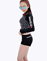Women Diving Suit UV Swimsuit Conjoined Sun-protective Swimwear Jellyfish Garments Long-sleeve Wetsuit Suits=Top+Pants