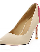 Women's Shoes Leatherette Stiletto Heel Heels Heels Office & Career / Dress / Casual Blue / Pink / Red