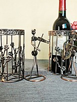 The New Music Of People Play Bronze Wine Frame, Wrought Iron Wine Rack Series Home Furnishing Ornaments