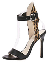 Women's Shoes Leatherette Summer Heels Party & Evening Stiletto Heel Buckle Leopard