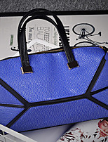 Women PU Hobo Tote-Blue