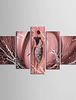 afrique mur seascape art décoration peinture à l'huile peinte à la main sur toile 5pcs / set avec cadre tendu